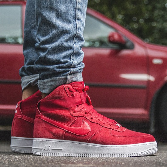 918051e0b3041d Jordan Air Force 1 Red Suede