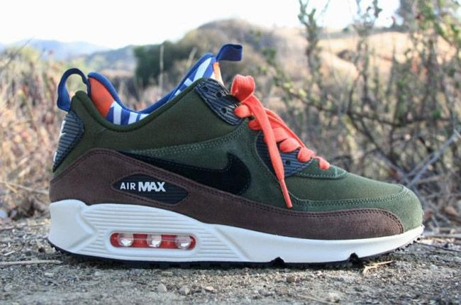 Nike Air Max 90 SneakerBoot, Legion green