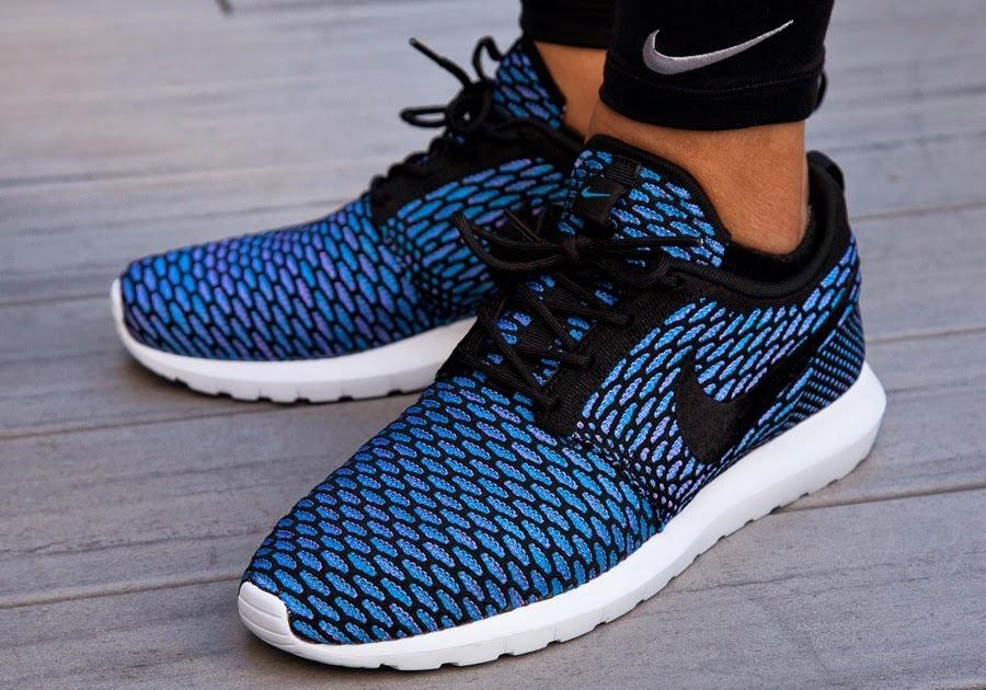 yjpkm  Кроссовки Nike Flyknit Roshe Run Black Neo