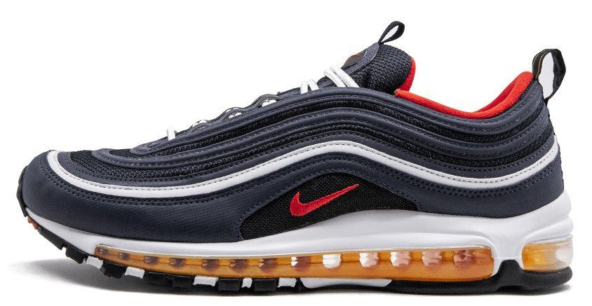 official photos bd311 2efc5 Кроссовки Nike Air Max 97 'Midnight Navy Habanero Red'