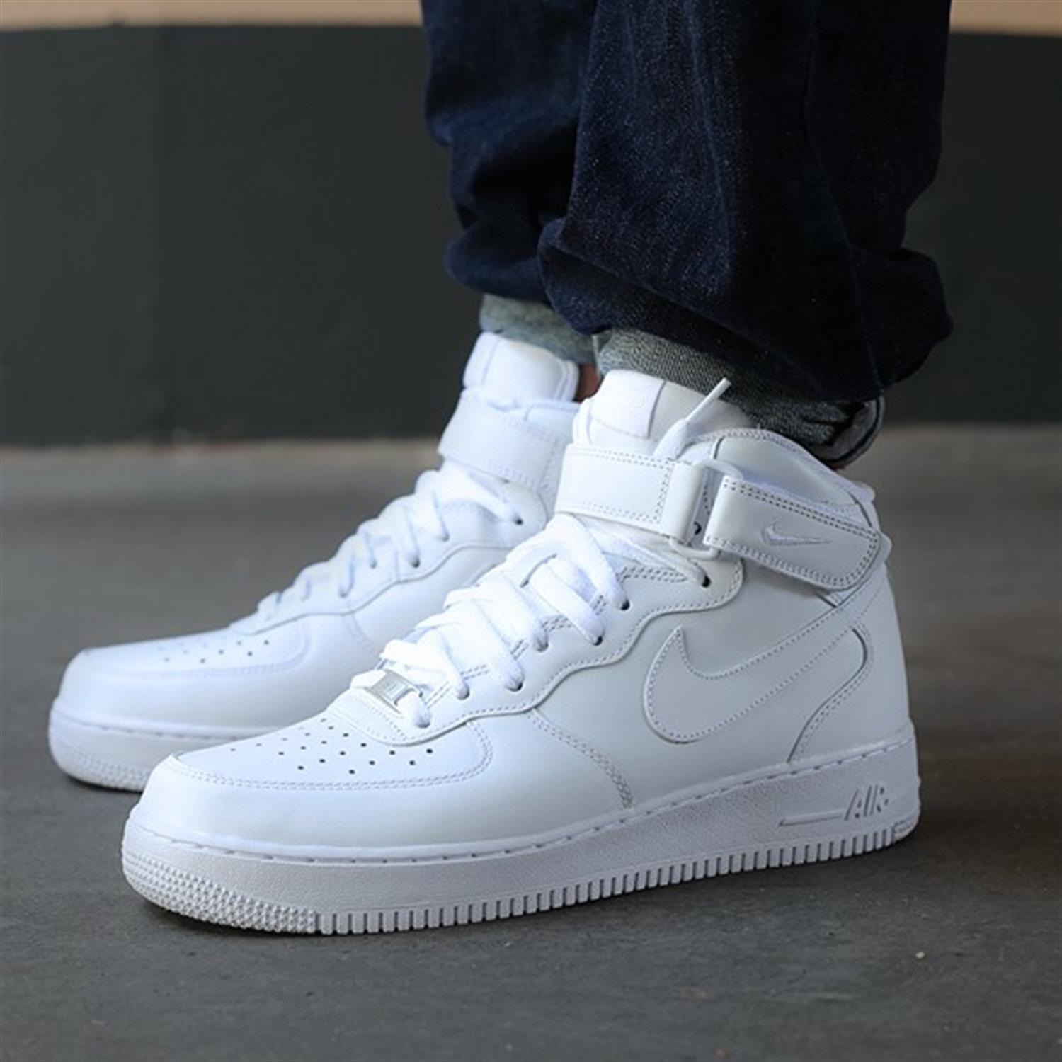 air force 1 mid all white