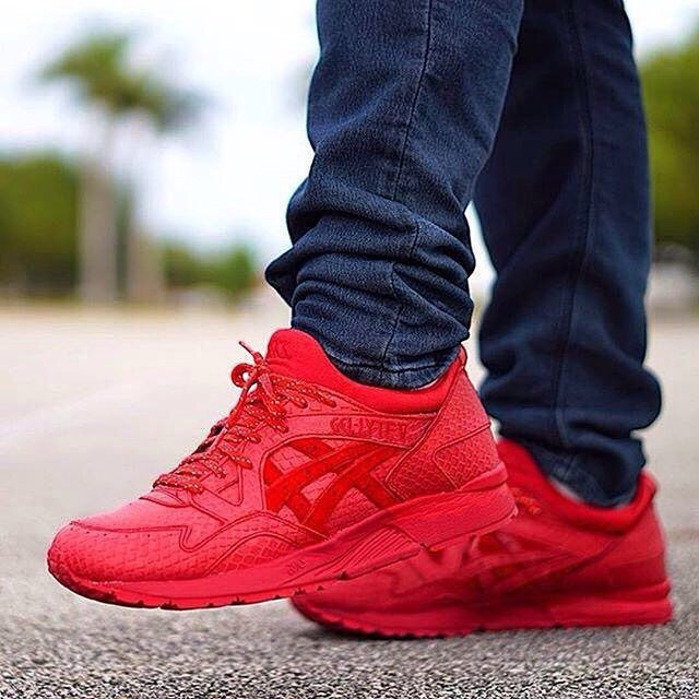 asics gel lyte 5 red reptile