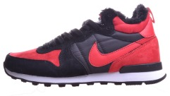 "Зимові Кросівки Nike Internationalist Mid ""Black/Red"""