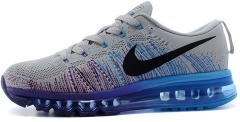 "Кроссовки Nike Air Max 2014 Flyknit ""Grey Black Purple Blue"""