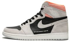 Баскетбольные кроссовки Air Jordan 1 Retro High Neutral 'Grey Hyper Crimson'