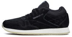 "Кроссовки Оригинал Reebok Classic Leather Crepe ""Black"" (V71960)"