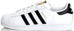 "Кеди Adidas Superstar Leather ""White-Black-Gold"""