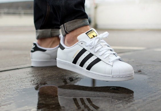 "Кеди Adidas Superstar Leather ""White-Black-Gold"", EUR 36"