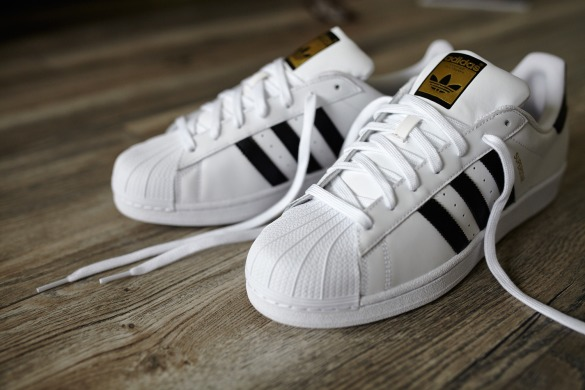 "Кеды Adidas Superstar Leather ""White-Black-Gold"", EUR 38"