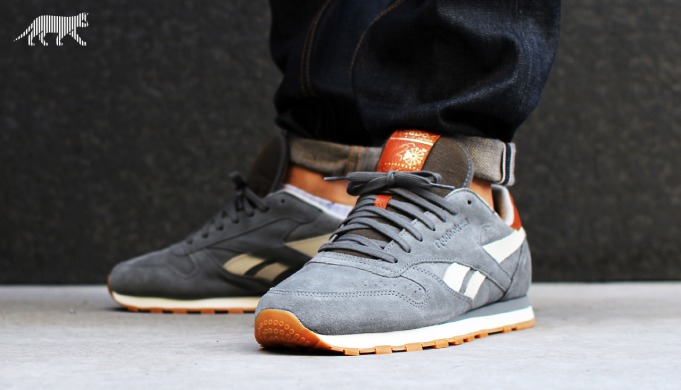 "Кроссовки Reebok Classic Leather Suede ""Rivet Grey"", EUR 42"