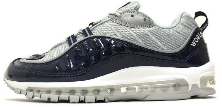 "58c305bc Кроссовки Supreme X Nike Air Max 98 ""Blue"