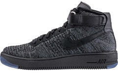"Кросiвки Nike Air Force Flyknit Mid ""Black"""