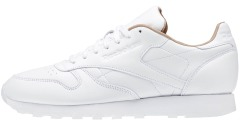 "Кроссовки Оригинал Reebok Classic Leather PN ""White/Brown"""