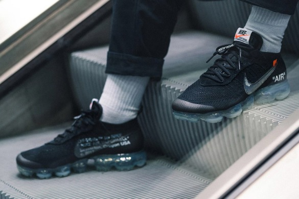 "Кроссовки Nike OFF-WHITE x Air VaporMax ""Black"", EUR 43"