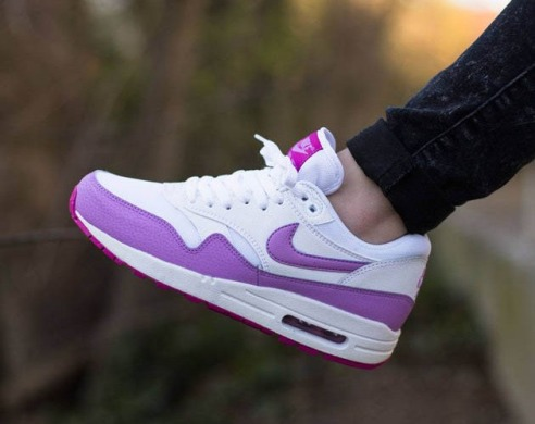 "Кроссовки Nike Air Max 1 Essential ""White/Fuchsia Glow-Fuchsia Flash"", EUR 36"