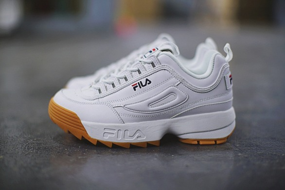 "Женские кроссовки Fila Disruptor II ""White/Brown"", EUR 37,5"