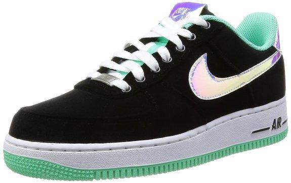 Кроссовки Nike Air Force 1 Faible Lueur Noir Et Vert