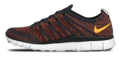 "Кроссовки Nike Free Flyknit NSW ""Anthracite/Laser Orange"""