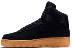 "Кроссовки Nike Air Force 1 High ""Black Suede Gum"""