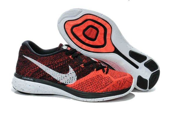 "Кроссовки Nike Flyknit Lunar 3 ""Bright Crimson University Red"", EUR 40"