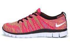 "Кроссовки Nike Free Flyknit NSW ""Pink/Multicolor"""