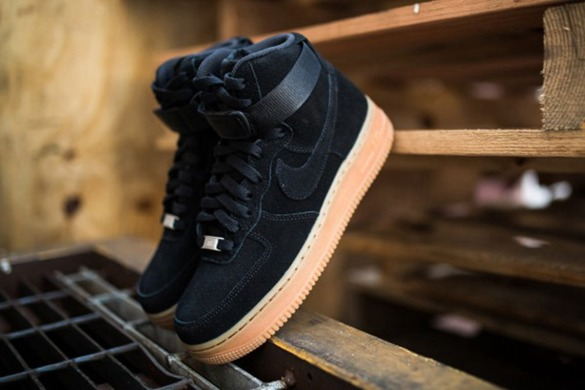 "Кроссовки Nike Air Force 1 HI Suede ""Black"", EUR 42"