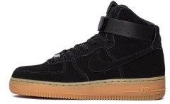 "Кроссовки Nike Air Force 1 HI Suede ""Black"""