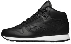 "Кроссовки Оригинал Reebok Classic Leather Mid Basic ""Black"" (BD2539)"