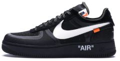 Чоловічі кросівки Nike OFF-WHITE x Air Force 1 Low 'Black'