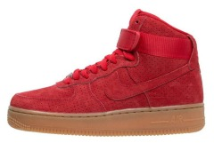 "Кроссовки Nike Air Force 1 HI Suede ""Red"""