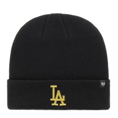 Шапка 47 Brand Los Angeles Dodgers Metallic Cuff Knit (MTCUF12ACE-BK)