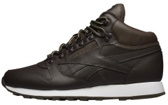 "Кроссовки Оригинал Reebok Classic Leather Mid Basic ""Dark Brown"" (BD2538)"