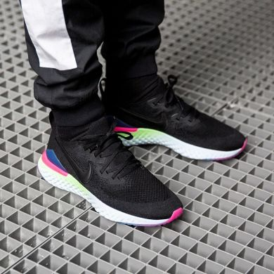 Кроссовки Nike Epic React Flyknit 2 'Black/Pink', EUR 41