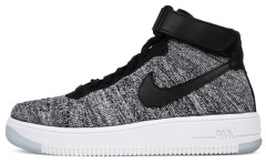 "Кросiвки Nike Air Force Flyknit Mid ""Gray"""