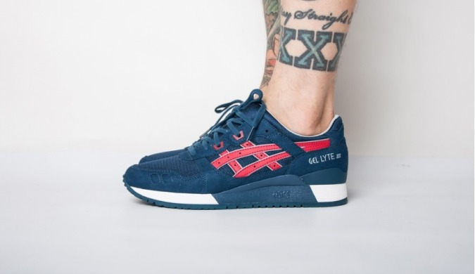 "Кроссовки Оригинал Asics Gel Lyte III ""Indian Ink / Tango Red"" (H6B1Y-5025), EUR 39,5"