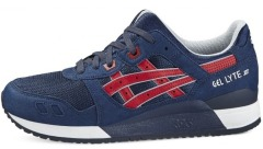 "Кроссовки Оригинал  Asics Gel Lyte III ""Indian Ink / Tango Red"" (H6B1Y-5025)"