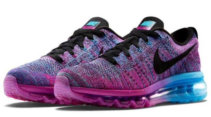 "Кросівки Nike Flyknit Air Max ""Fuchsia Flash Black"", EUR 36"