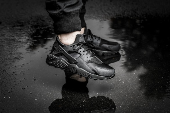 "Кросівки Nike Air Huarache ""Triple Black"", Чорний, EUR 36"