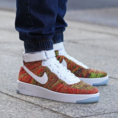 "Кроссовки Nike Air Force 1 Ultra Flyknit Mid ""Multicolor"", EUR 44"