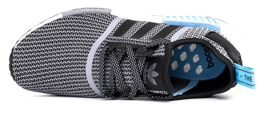 "Кроссовки Adidas NMD R1 ""Core/Black/Clear/Blue"", EUR 41"