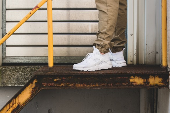 "Кроссовки Оригинал Nike Air Huarache Ultra BR ""Triple White"", EUR 41"