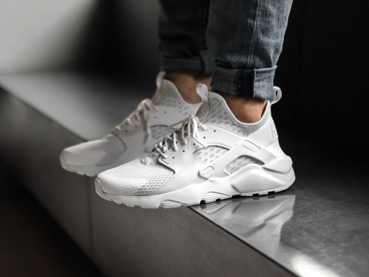 "Кроссовки Оригинал Nike Air Huarache Ultra BR ""Triple White"" (833147-100), EUR 41"