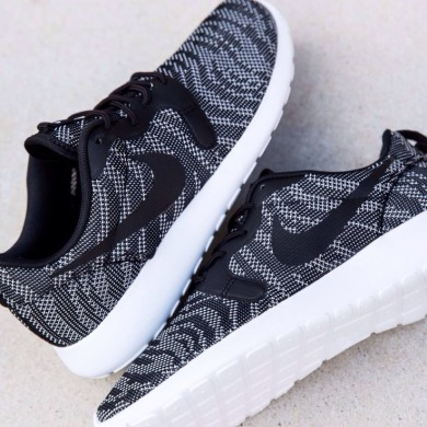 "Кросівки Nike Roshe Run KNIT JACQUARD ""White/Black"", EUR 36"