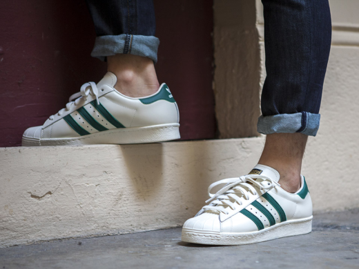 "Кроссовки Adidas Superstar 80's ""White/Green"", EUR 41"