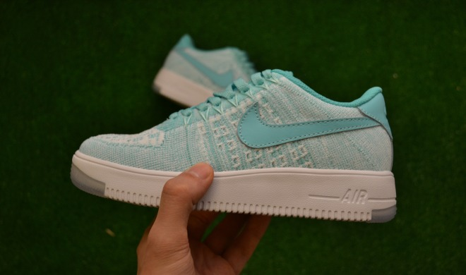 "Кроссовки Nike Wmns Air Force 1 Flyknit Low ""Hyper Turquoise"", EUR 36"