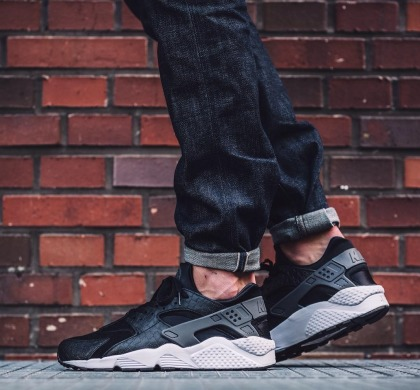 "Кросiвки Оригінал Nike Air Huarache Run PRM ""Black/Dark"", EUR 41"