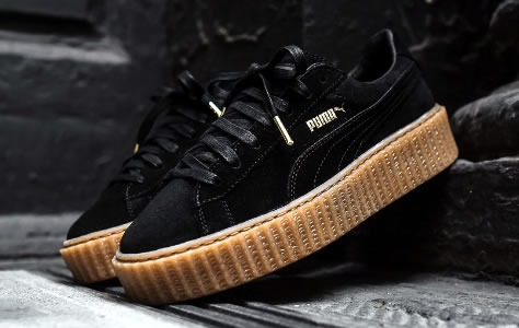 "Мужские кроссовки Rihanna x Puma Suede Creeper men's ""Black/Oatmeal"", EUR 40"