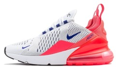 "Кросiвки Nike Air Max 270 White Ultramarine ""Solar Red"""