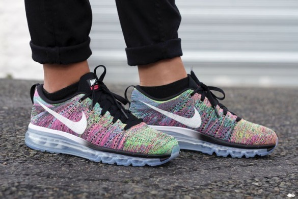 "Кроссовки Nike Air Max Flyknit 2015 ""Multicolor"", EUR 41"