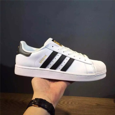 "Кеды Adidas Superstar Leather ""White-Black-Gold"", EUR 45"